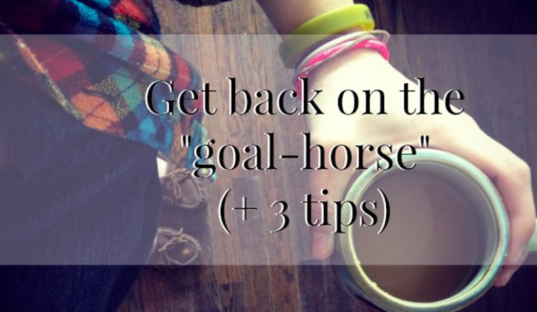 "Getting back on the ""goal-horse"""