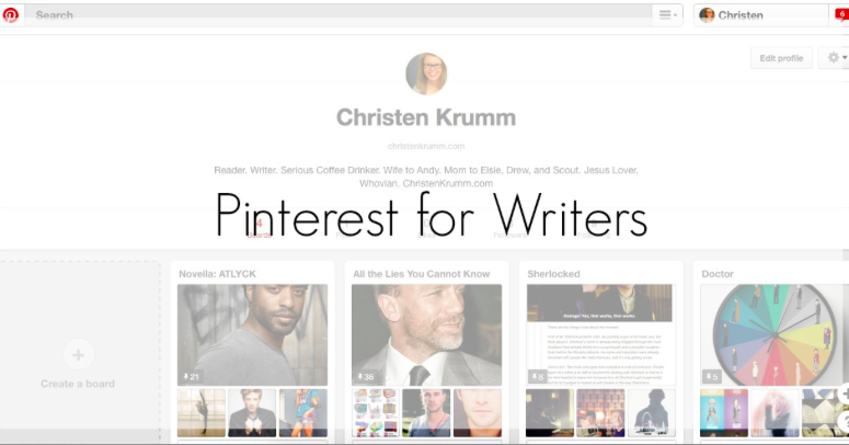 Pinterest for Writers